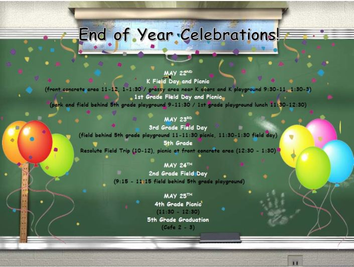 End of Year Celebrations